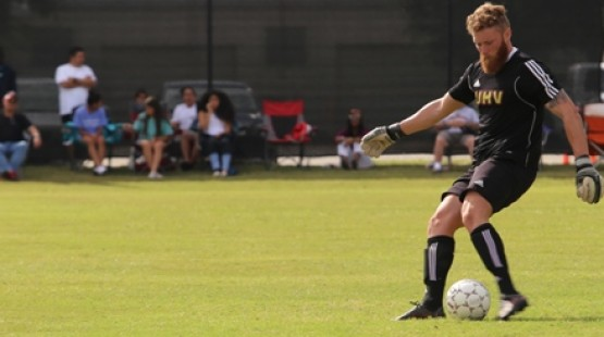 UHV goalkeeper Brian Redmond collected his fifth straight shutout Thursday in a win over Huston-Tillotson.