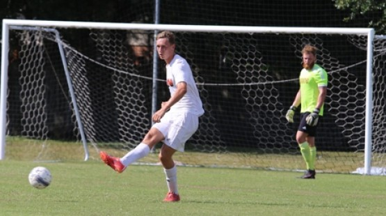 Reece Hannigan, left, scored UHV's lone goal Saturday against Our Lady of the Lake.