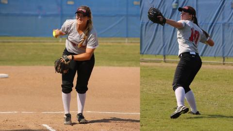 UHV's Haley Beam and Aubri Hockenbury claimed the RRAC weekly softball honors this week.