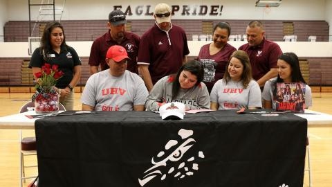 Mission's Leah Lerma has signed to play women's golf with the University of Houston-Victoria.