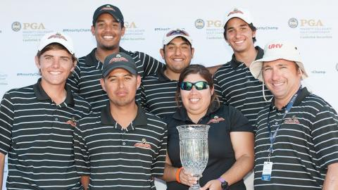 The UHV men's golf team won its 3rd title in 4 years at the PGA Minority Championships. (Montana Pritchard/PGA of America)