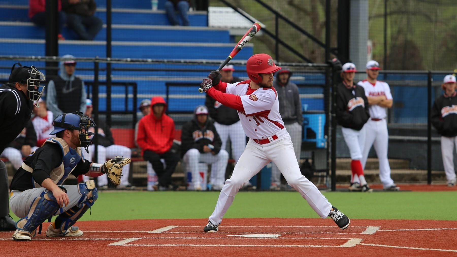 Derek Maciejeski hit his first collegiate home run Tuesday in a win over Texas A&M-International.