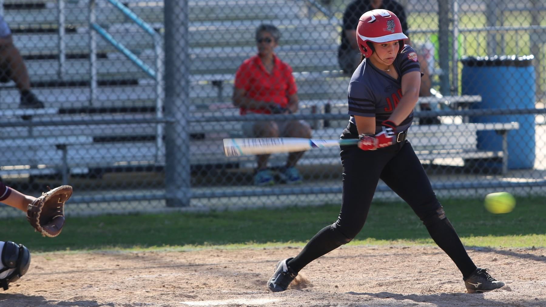 UHV's Emily Flores has been named the RRAC Softball Player of the Week for the week of April 3-9.