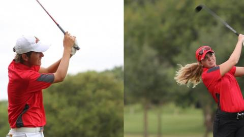 James Rollins and Shelbi Vincent have been named the RRAC Golfers of the Week for March 13-19.
