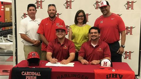 Harlingen's Alex Hinojosa has signed to play baseball for UHV.