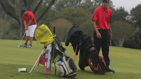 The UHV men's golf team finished third Tuesday at the South Padre Intercollegiate.