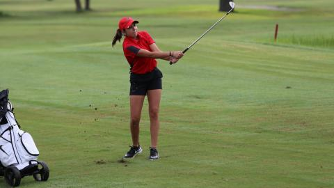 The UHV women's golf team finished third Tuesday at the St. Gregory's Spring Cavalier Classic.