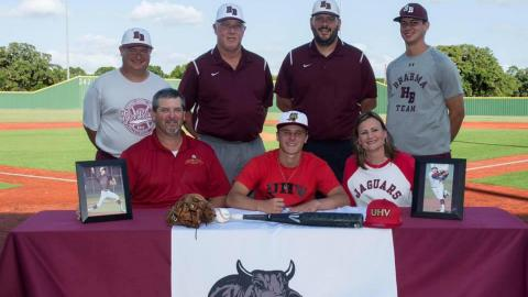 Hallettsville's Colton Starns signs to play baseball with the UHV Jaguars.