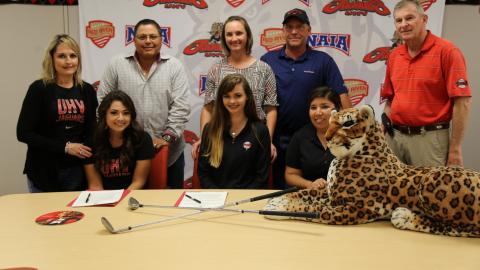 East Ttians Kelsey Torres and Lorrin Dickey have signed with the UHV Jaguars.