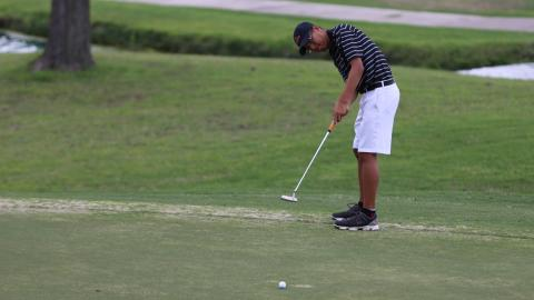 The UHV men's golf team is currently tied for third at the Red River Athletic Conference Men's Golf Championships.